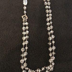 Silpada long crystal necklace